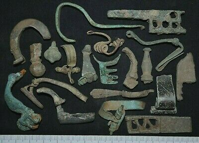 Group of 20 Ancient Roman Bronze Detector finds. Fibulas & others, c 250-350 Ad.