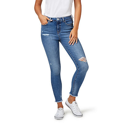 NEW Jeanswest Womens Moira High Waisted Skinny Crop Jeans