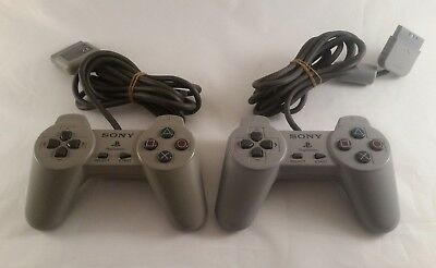 2 x Sony PSone, Playstation 1 Controller, Genuine, Official, SCPH-1080 Free P&P