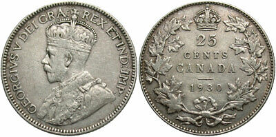 CANADA: 1930 25 Cents #WC70730