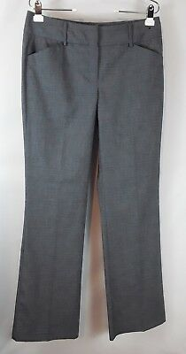 NY & co women's size 8 tall gray stretch Midrise straight leg dress slacks pants