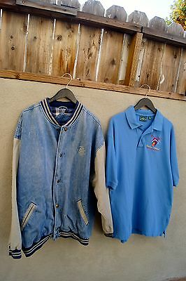 Hot Air Balloon Men's 2XL Lot of 2 Polo Shirt and Denim Jacket Balloon Festival