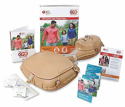 New Adult Child CPR Anytime Kit Mini Anne Manikin Bilingual Instructions & DVD
