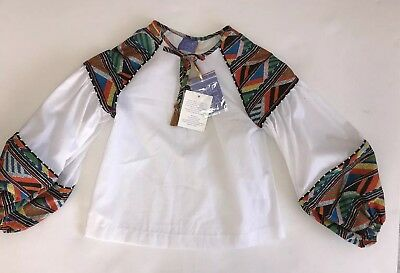 Stella Jean Girls Blouse BNWT Rrp £117 NOW £40 ‼️‼️