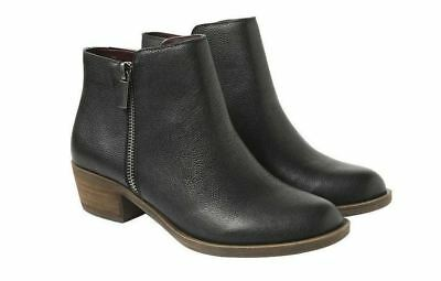 New - Kensie Ghita Black Women's Leather Casual Short Ankle Boots - Pick Size