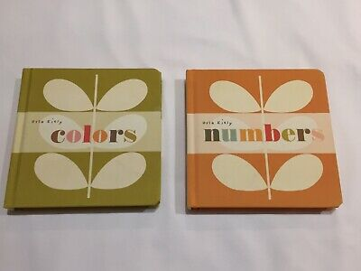 Two Orla Kiely Board Books For Children - Colours and Numbers