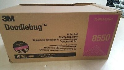 3M Doodlebug Hi-Productivity Stripping Pad in Black, 4 5/8 x 10 - Case with 10