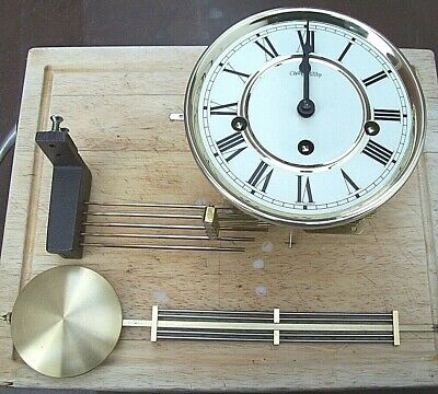 Franz Hermle Westminster Chiming Wall Clock Movement with Dial Hands Pendulum