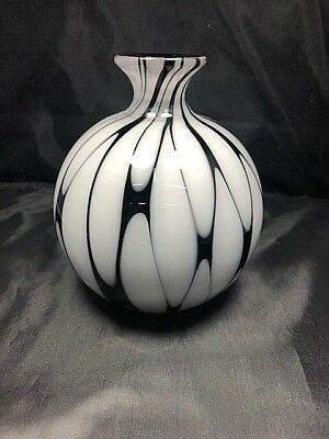 Seguso Viro Murano Glass Vase Rare Signed and Numbered by Bosso 12 of 101