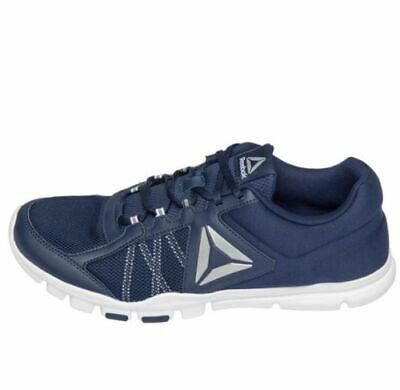 Reebok Memorytech YOURFLEX TRAIN NAVY/WHITE/SLIVER Running Shoe's Men's US 12
