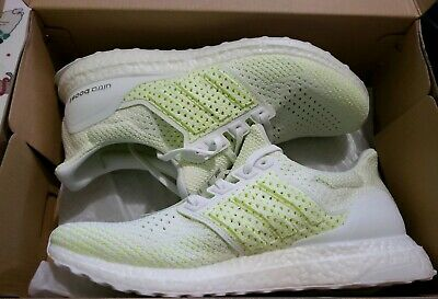 a1b6cd941c7cb ADIDAS ULTRABOOST CLIMA Men s - White   Solar Yellow Ultra Boost ...
