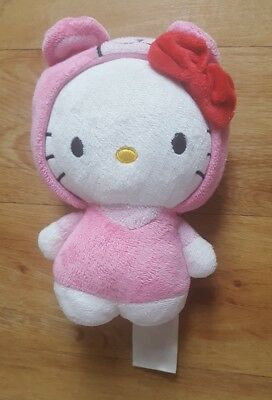 H&M Hello Kitty Soft Toy Plush Pink One Piece Bear Costume Comforter Soother #B7