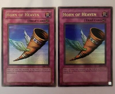 DB2-EN076 3 x Yu-Gi-Oh Card HORN OF HEAVEN - NM/Mint rare