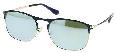 d5991aa1c7 Persol 649 Metal Series Blue Light Green Mirror Silver Sunglasses Po7359S  107330