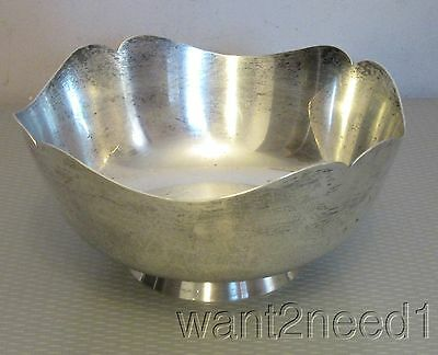 """Shreve Crump Low STERLING SILVER GOVERNOR WENTWORTH BOWL 7"""" mustache footed 362g"""