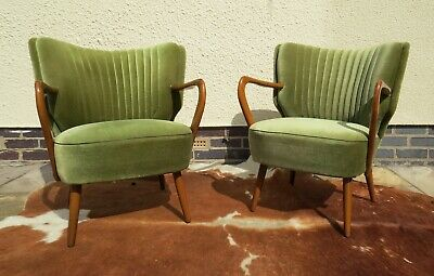 Pair Of Mid Century Vintage German  Armchairs / Chairs Great Condition Apr19-2