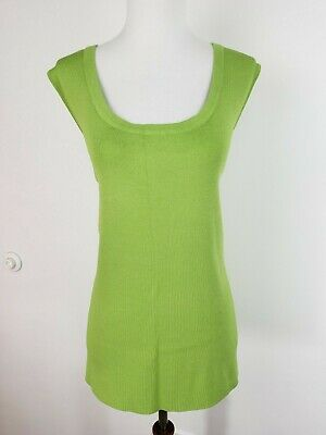 Laura Ashley Womens 3X Stretchy Sleeveless Blouse Tank Top Cami Green NEW w/ Tag