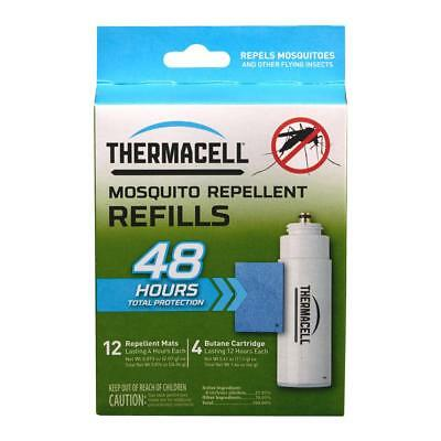 ThermaCELL Mosquito Repellent REFILL 48 hour 12 mats 4 cartridges FREE SHIPPING
