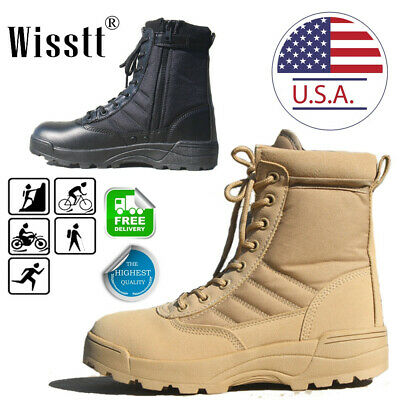 Tactical Military Ankle Boots Cordura Desert Combat Army Hiking Shoes DELTA 2020