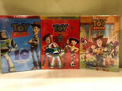 Toy Story 1, 2 or 3 DISNEY DVD or ALL 3 DVDs -Free Shipping Choose Your Options