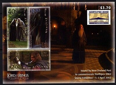 2002 New Zealand - Lord of the Rings Fellowship of the Ring - NORTHPEX Sheet