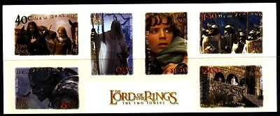 2002 New Zealand - Lord of the Rings . The Two Towers - SELF ADHESIVES