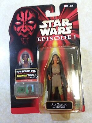 Star Wars Episode 1 Commtech Adi Gallia with Lightsaber NOC