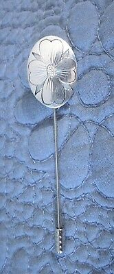 Native American Signed Sterling Silver Pin