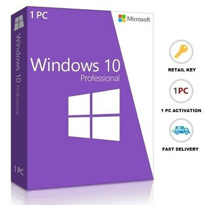Microsoft Windows 10 Pro 32|64 Bit Genuine Activation Retail Key License