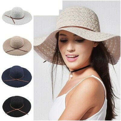 0da0cf6db7f Foldable Brimmed Straw Hat For Women 5 Colors Summer Beach Sun Hats For  Ladies