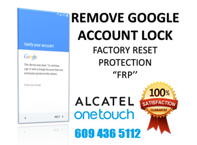 FRP GOOGLE ACCOUNT Removal Remove Service for Alcatel Blu Huawei One