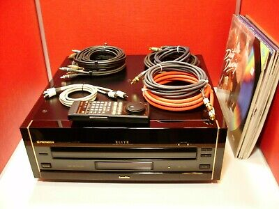 Pioneer Elite Cld-97 Reference Cd Cdv Laser Disc Player + Remote, Cables & Discs