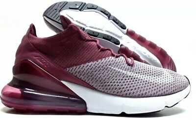 26a650e935 Nike Air Max 270 Flyknit Plum Fog/white-Vintage Wine Size Men's 13 [