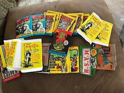 Vintage Lot of 1980s and 1990s Unopened Card Packs- Hook, Grossville, More 81-08