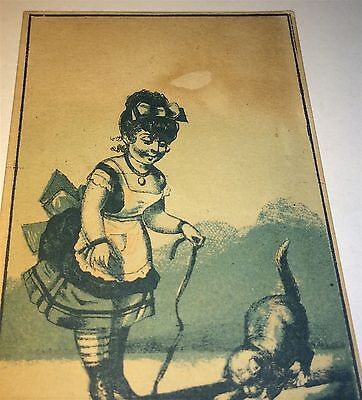 Antique Victorian American Advertising Druggist / Cologne New York Trade Card!