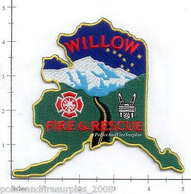 """EMBROIDERED  NEW FIRE PATCH WILLOW ALASKA FIRE AND RESCUE 4.5 X 5/"""" size"""