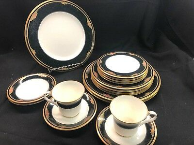 Noritake Venetian Rose Fine China Set of 17! Dinner,Salad,Bread,Cup & Saucers!