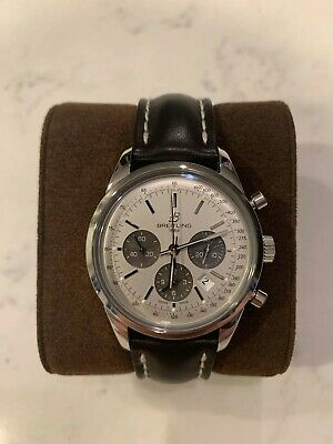 f5a21688e Breitling Transocean Chronograph AB0152 Stainless Steel 43mm Box & Papers