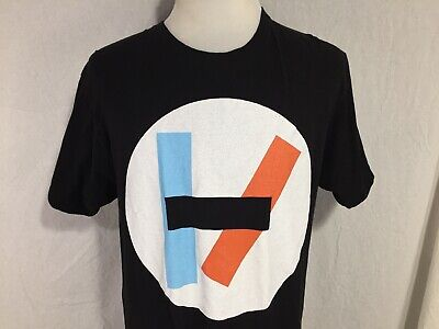 Twenty One Pilots Regional Adult Large T Shirt Black Blue White Red Logo Ohio