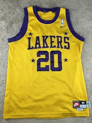 cheap for discount ef497 3b353 GARY PAYTON #20 NBA Nike Authentic Los Angeles Lakers Home ...