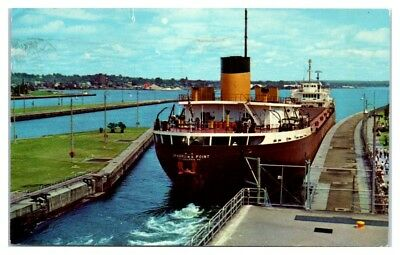 1976 SS Sparrows Point Great Lakes Freighter renamed Lewis J. Kuber Postcard