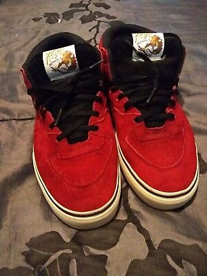 a914f1dba9 Vans Red Seude Half Cab Pro Steve Caballero 20Th Anniversary Yod Dragon  Mens 7.5