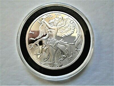2015 GODDESS NIKE 1 Troy OZ Pure .999 Fine Silver Coin / Round in Capsule