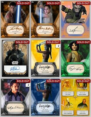 Star Wars Card Trader Digital Signature Crads Lot Of 60 Low Count Sigs