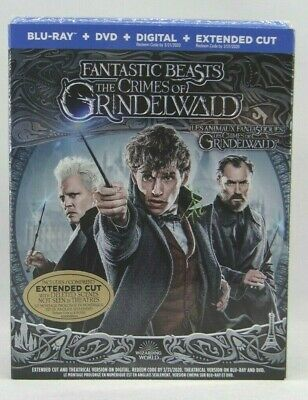 Fantastic Beasts The Crimes Of Grindelwald ( Blu-Ray+DVD+Digital) New sealed !