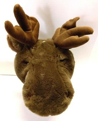 Jaag Plush Stuffed Moose Head Face Adjustable Hat Novelty Wear Wild Animal
