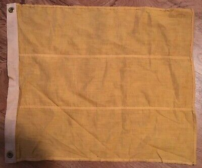 """Antique Maritime Navy Square Solid Yelow Signal Flag 17"""" X 20"""""""
