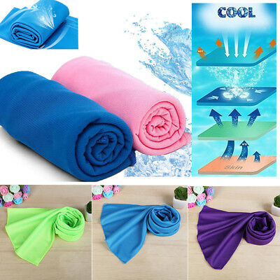 Sports Chilly Pad Cooling Towel Instant Ice Enduring Jogging Running Towel Solid