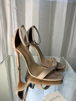 241c11db39 Schutz Jeannine Block Heel Sandals Toasted Nut Nude Leather Ankle Strap  Pump 9