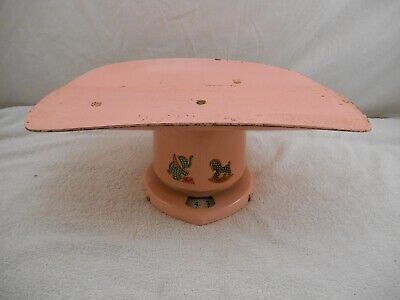 1951 Vintage Pink Baby Nursery Scale Antique Old Neat